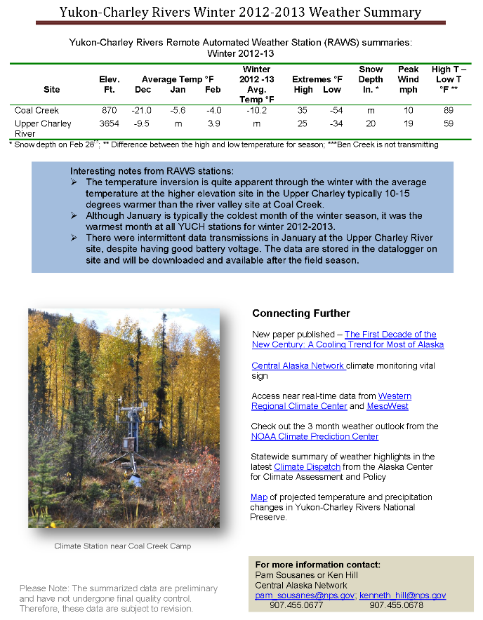YUCH Winter 2013 Weather Summary Page 3