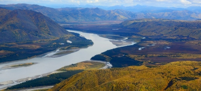 Aerial view of the Yukon River