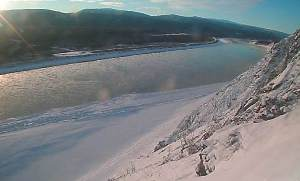 Yukon River in winter