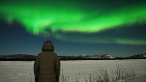 Aurora over the Yukon River