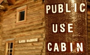 Public Use Cabin sign