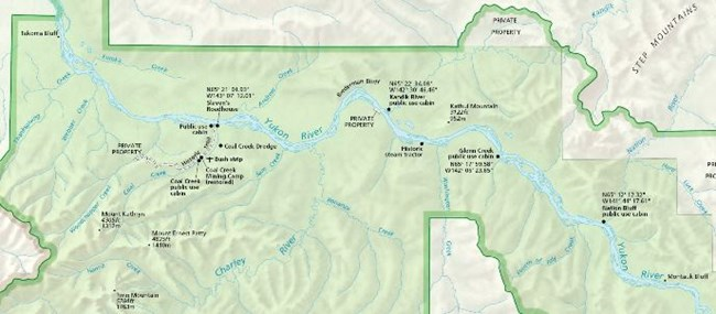 Click the National Park Service map of Yukon-Charley Rivers for a larger view