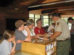 Volunteer at Visitor Center Desk