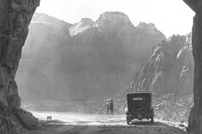 Zion-Mt. Carmel Tunnel in the 1930s