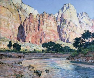 """Mountains of the Sun"" by Howard Russell Butler, 1926 Zion Museum Collection ZION 14586"