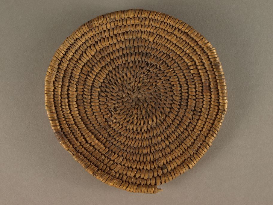 This basket is typical of items that date to the late Basket Maker period of Ancestral Puebloan occupations, roughly AD 1 to 700. Zion Museum Collection ZION 18592