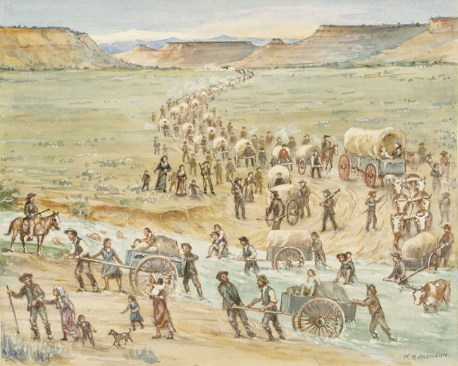 Watercolor by William Henry Jackson, 1937 Zion Museum Collection ZION 209