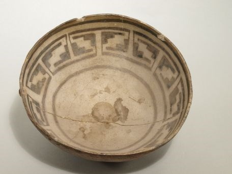 North Creek Black-on-gray Bowl Zion Museum Collection ZION 47