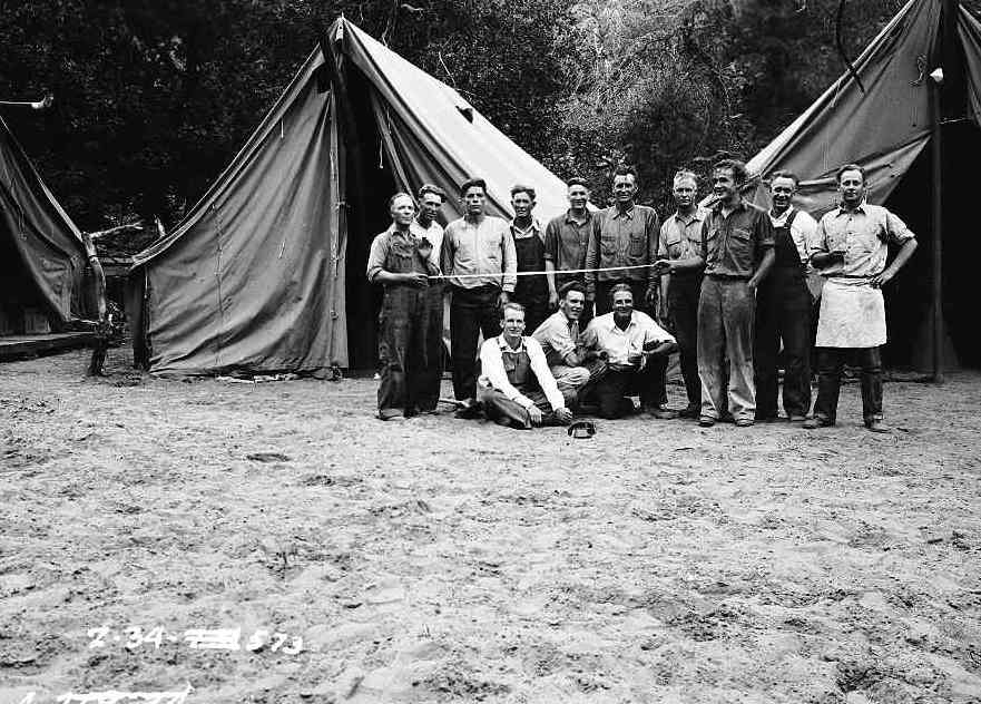 CWA Archeology camp and party members Zion Museum Collection ZION 7450