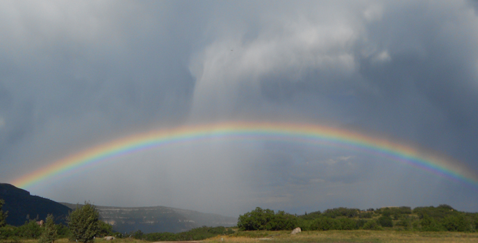 Rainbow over Kolob Terrace