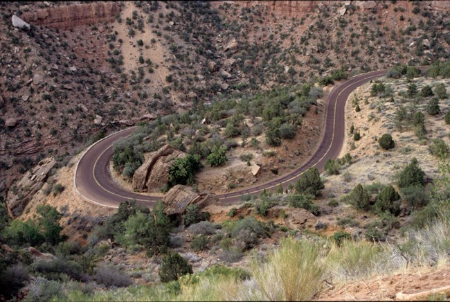 Switchbacks on Zion-Mount Carmel Highway
