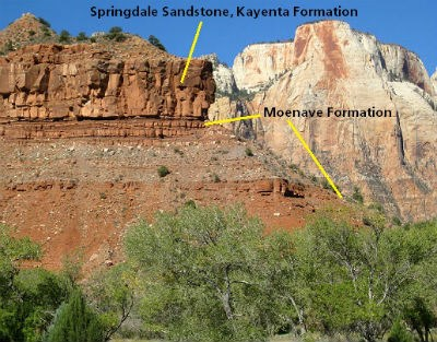 Moenave Formation and Springdale Sandstone