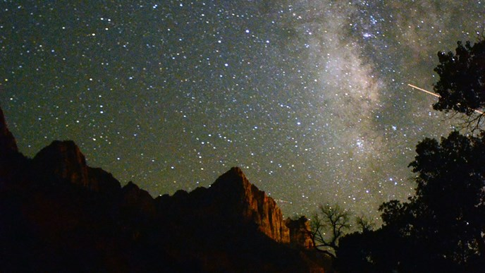 The Milky Way over the Watchman.