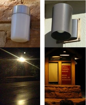 unshielded light vs. shielded night sky-friendly light