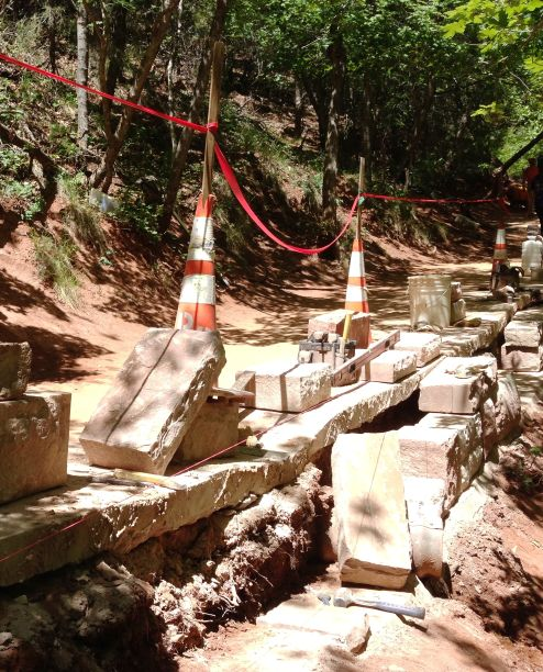 Emerald Pools Trail Work