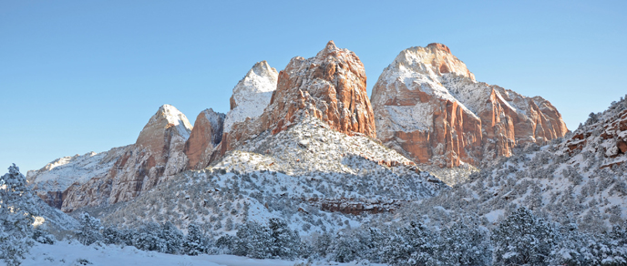 Winter in Zion Canyon.