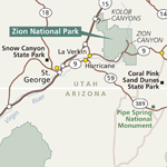 Zion Area Map