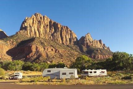 Rv Parks Utah Map.Watchman Campground Zion National Park U S National Park Service