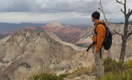 Hiker on the West Rim Trail