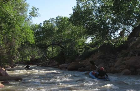 Kayaking on the Virgin River
