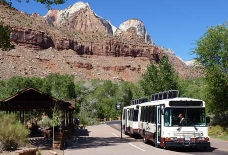 The Zion Canyon Shuttle Bus