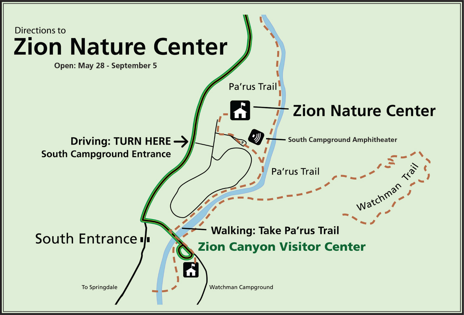 Maps - Zion National Park (U.S. National Park Service) Zion Map on